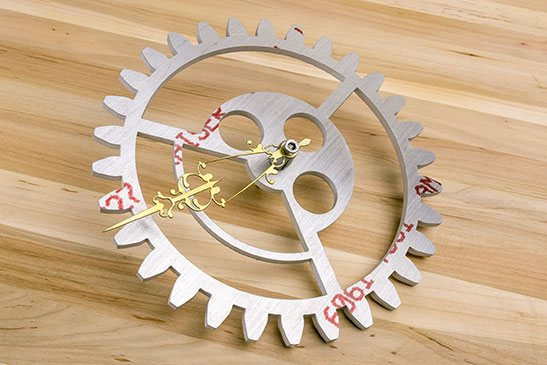 Clock Gear made with Aluminum